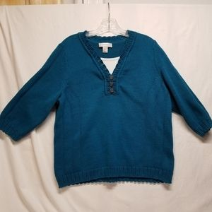 Christopher and Banks XL, layered look sweater